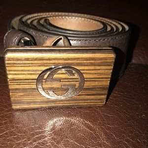 7ef065ec61b Gucci. faded leather belt in brown with a Double G buckle